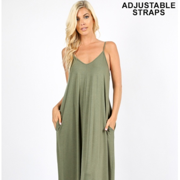 8d6500dca41 Comfy Maxi Dress w  Side Pockets - Light Olive. Boutique. Zenana Outfitters